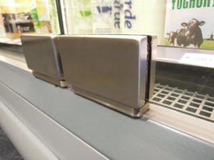 scharnieren enkelglas glasafdekking draaideuren koelmeubels